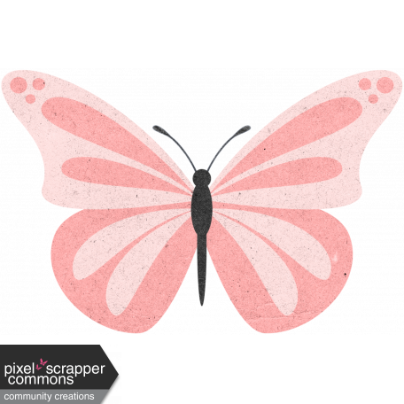 May 2021 Blog Train: Spring Flowers Butterfly 03 Pink