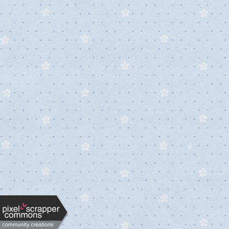 May 2021 Blog Train: Spring Flowers Patterned Paper Flowers 03, Light Blue