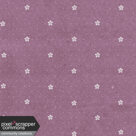 May 2021 Blog Train: Spring Flowers Patterned Paper Flowers 03, Purple