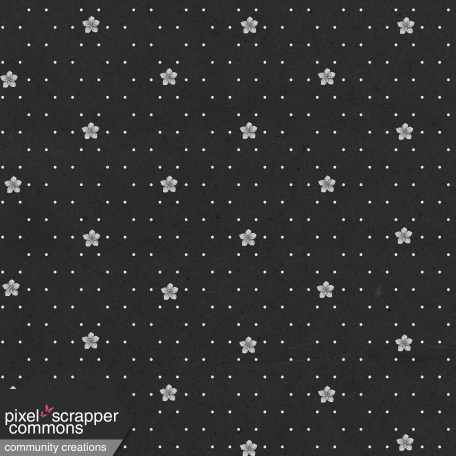 May 2021 Blog Train: Spring Flowers Patterned Paper Flowers 03, Black