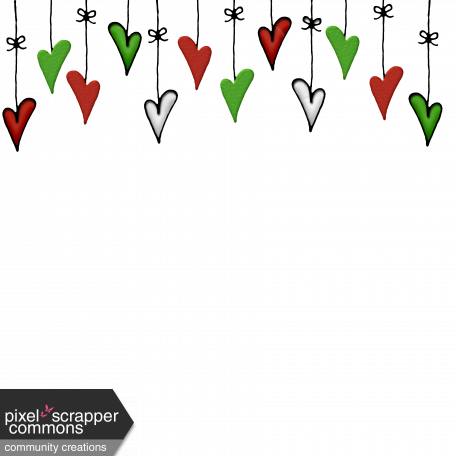Hanging Heart Christmas Ornaments Page Topper