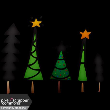Christmas Tree Line Element