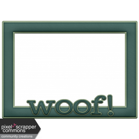 Shelter Per Woof! Frame Turquoise graphic by Melissa Riddle | Pixel ...
