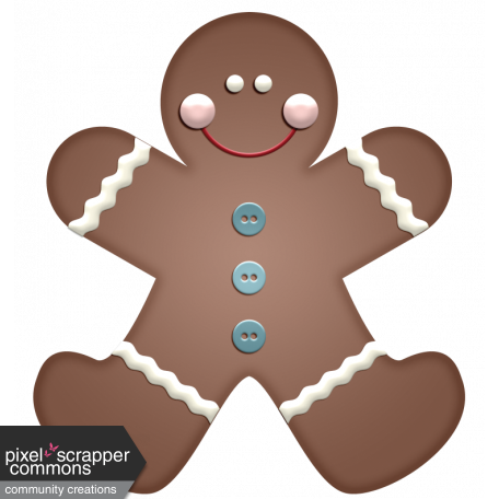 Home For The Holidays - Gingerbread Man Element