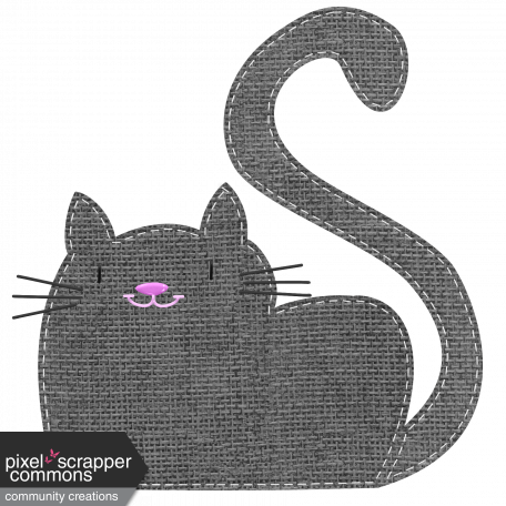 Oh Kitty Kitty - Stitched Burlap Layered Kitty Template 2 graphic by ...