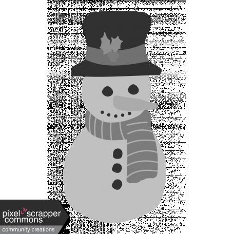 Christmas Snowman Element Template