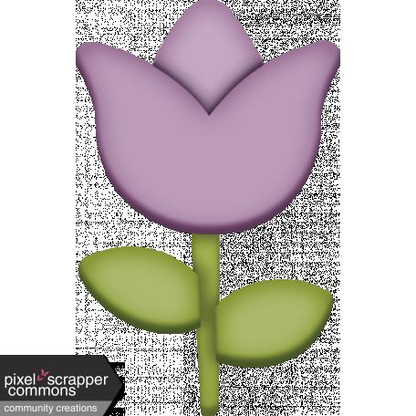 Easter - Purple Spring Tulip Element