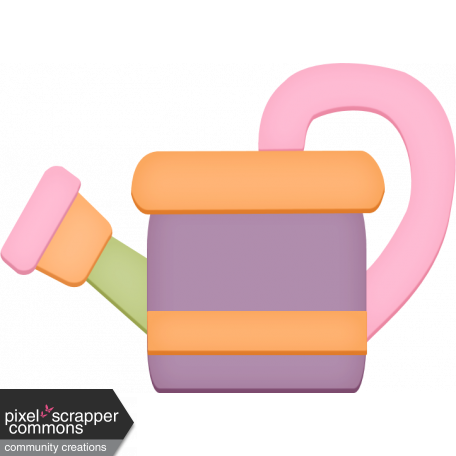 Easter - Spring Watering Can Element