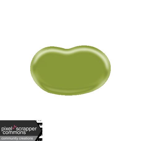 Easter - Green Jellybean Element