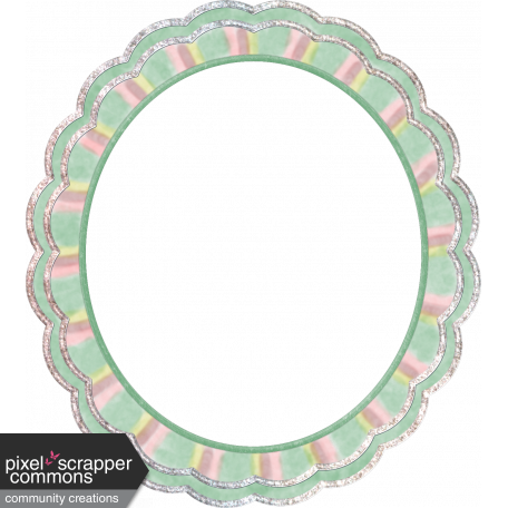 Gentle Blooms -Scallop-edge Oval Frame