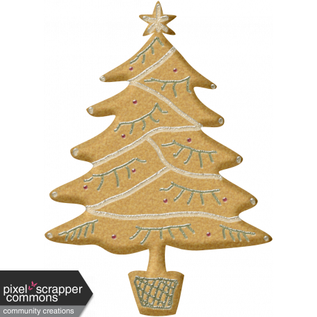 Holiday Cookies Tree Graphic By Rose Thorn Pixel Scrapper Digital
