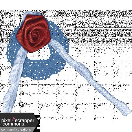 Midnight Romance - Elements Set - Fabric Rose