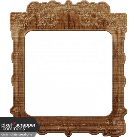 Vintage Mini Kit - Wood Frame graphic by Rose Thorn   Pixel Scrapper ...