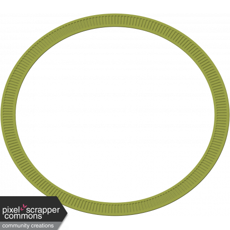 Grunge and Roses - Oval Frame - Green