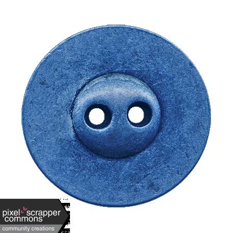 Blue Metal Button  - October 2020 Blog Train