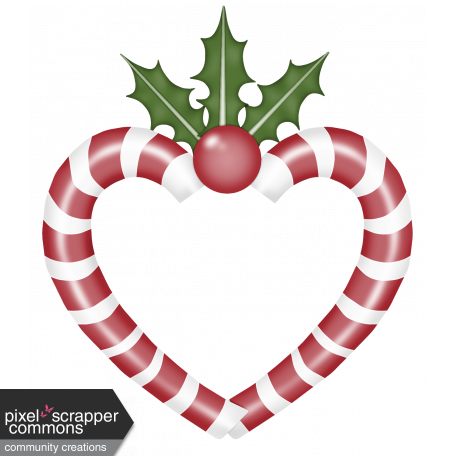 Christmas Heart Png.Home For The Holidays Candy Cane Frame Graphic By Dawn