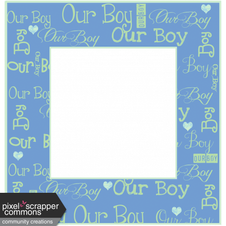 Welcome Little One Our Boy Frame graphic by Dawn Prater | Pixel ...