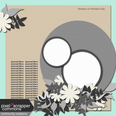 Layered Page Template - Delightful Circles #3