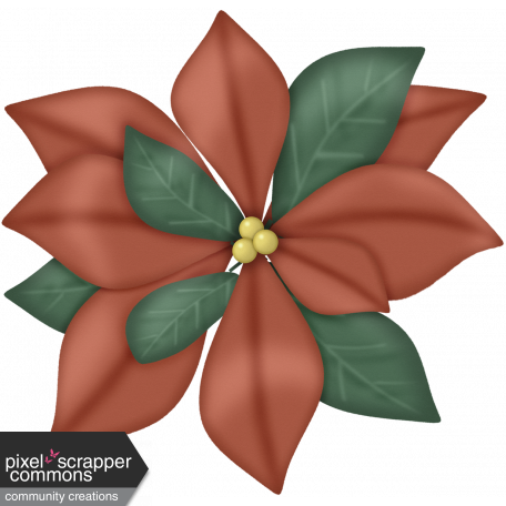 Retro Holly Jolly Poinsettia #2