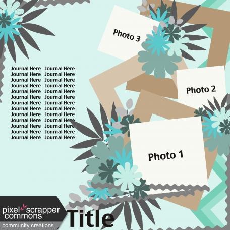 Multiple Photo Layered Template #1
