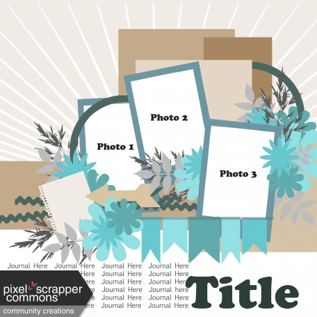 Multiple Photo Layered Template #2