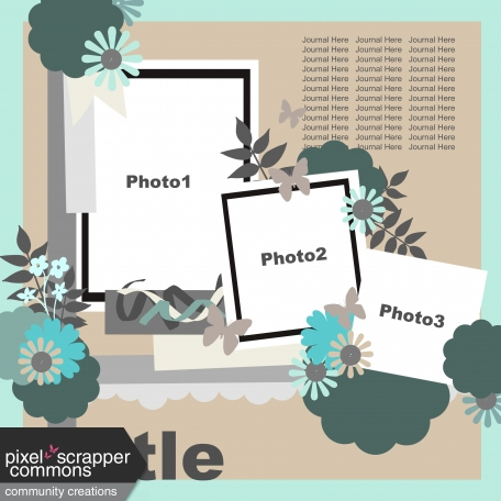Multiple Photo Layered Template #4