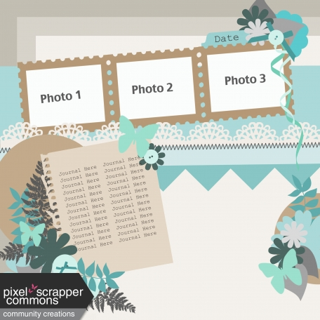 Multiple Photo Layered Template #5