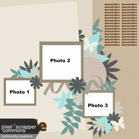 Multiple Photo Layered Template #6