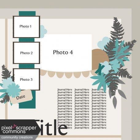Multiple Photo Layered Template #10