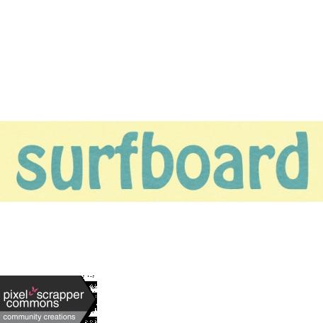 Just Beachy - word tag 16