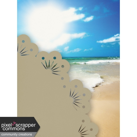 Just Beachy - journal/pocket card 8