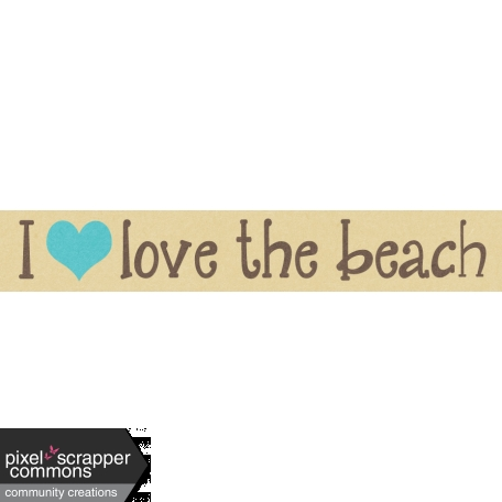 Just Beachy - word tag 26