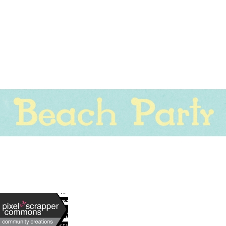 Just Beachy - word tag 31