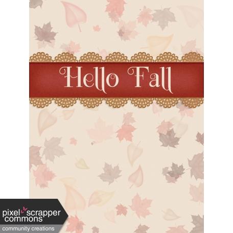 Fall in Love - pocket card 3, 3x4