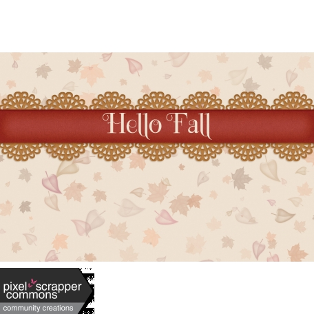 Fall in Love - pocket card 3, 4x6