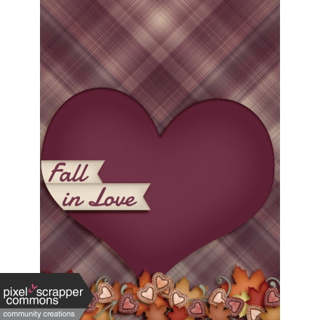Fall in Love - pocket card 4, 3x4