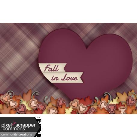 Fall in Love - pocket card 4, 4x6