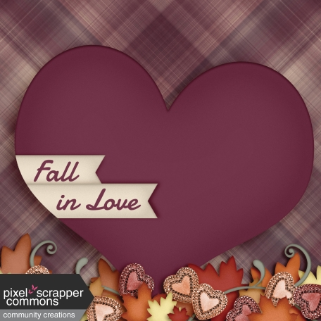 Fall in Love - pocket card 4, 4x4