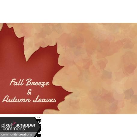 Fall in Love - pocket card 5, 4x6
