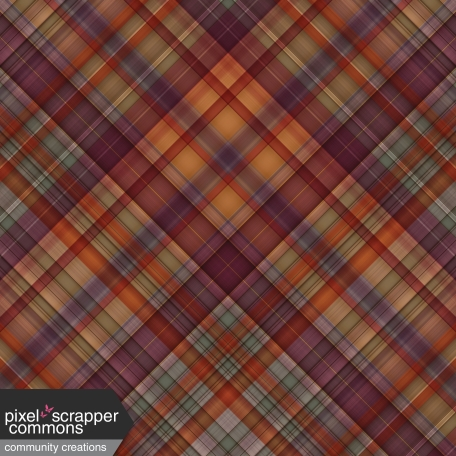 Fall in Love - plaid paper 1