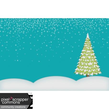Christmas Magic - journal card 2, 4x6