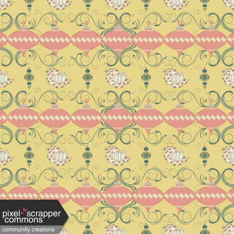 Retro Holly Jolly - pattern paper 1