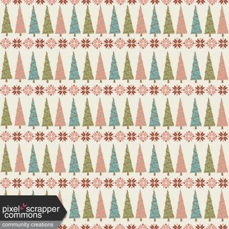 Retro Holly Jolly - pattern paper 4