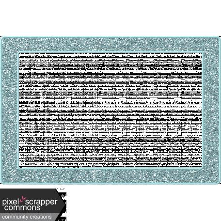 Light Blue Glitter Frame