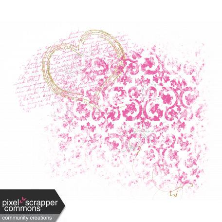 Me & You - Paint & Glitter Heart Embellishment (transparent)