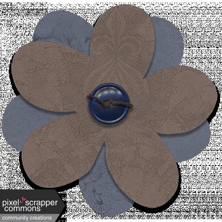 Indian Summer Skies - Tied Button Flower 1