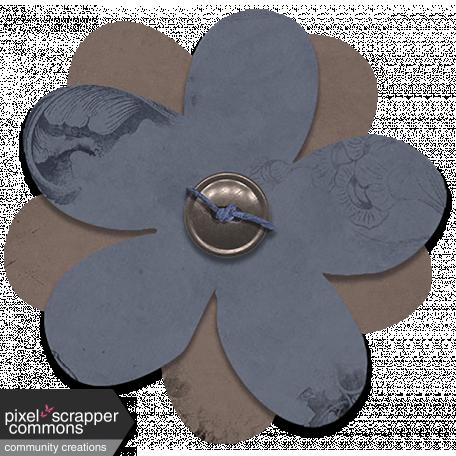 Indian Summer Skies - Tied Button Flower 2