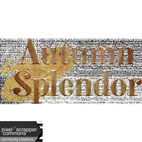 Fall Wonder Wordart - Autumn Splendor