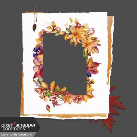 Floral Elegance Clustered Frame w/Dangle Clip