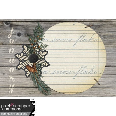 Rustic Winter - Journal Card 1